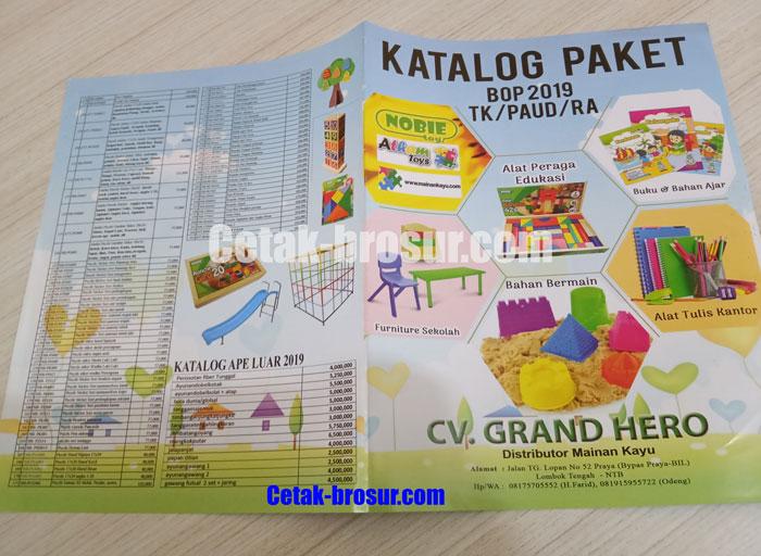 Cetak brosur Distributor Mainan