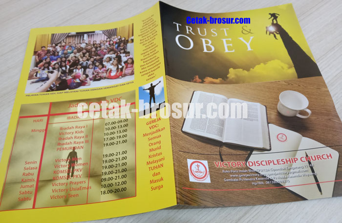 Cetak brosur Ibadah