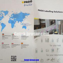 Cetak brosur PAGO Labelling Solutions